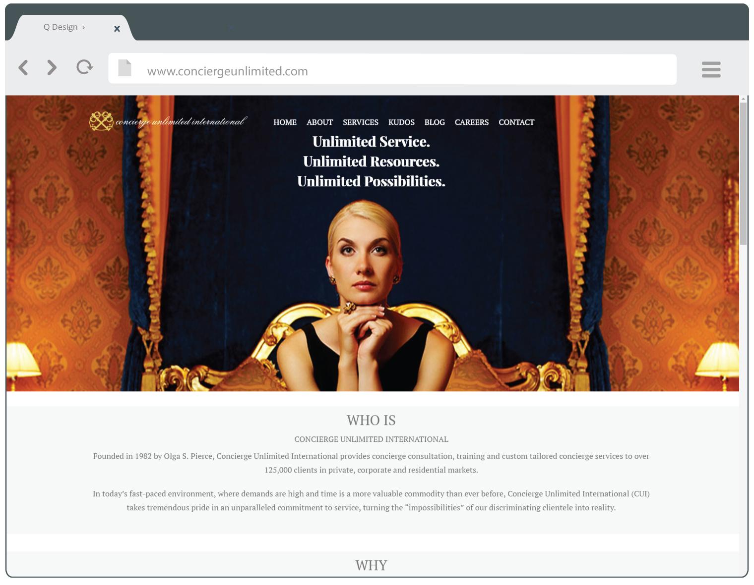 Concierge Unlimited website