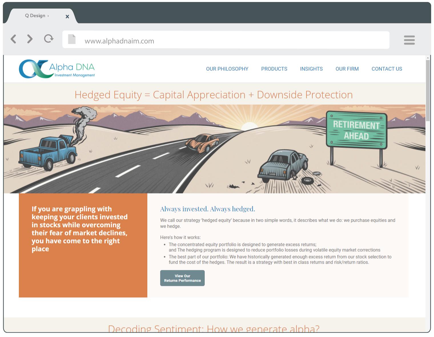 AlphaDNA website screenshot